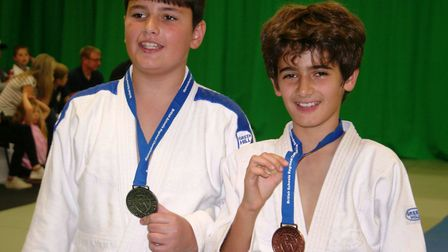 King's Ely Judo Champions Joseph Sibson (left) and Lucas Hilcenko (right)