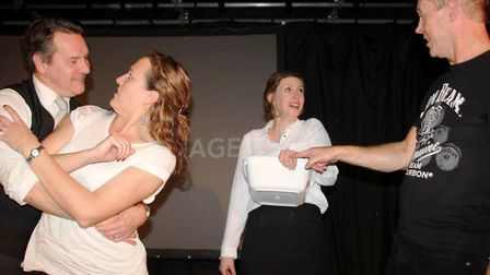 Viva's new drama festival entry, God of Carnage being performed. Photo: Mike Rouse