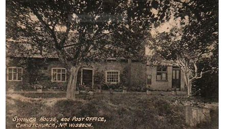 Syringa House, as it was in the early part of the 20th century. A postcard of the house was found on