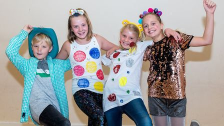 Year Five at Dunmow Primary with their Spots and Sparkles. Picture: SAFFRON PHOTO