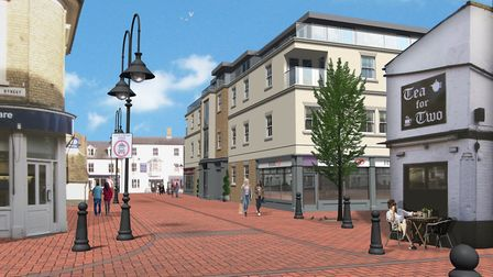 These were the most recent design plans for 12 flats on the market place, Ely, Conservationists and