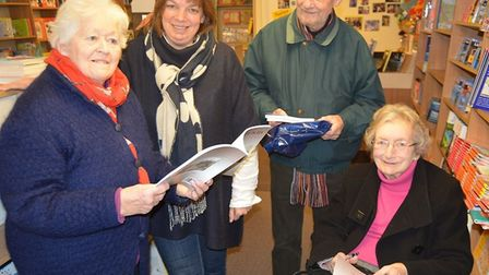Pamela Blakeman's new (and last) book was officially launched at Burrow's Bookshop in Ely. Pamela i