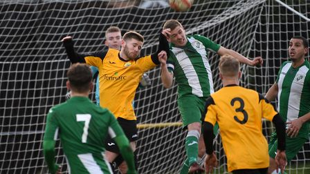 Action from March Town's defeat at the hands of Whitton. Picture: IAN CARTER