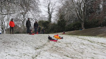 Ely's snow day captured by Fenland photographers. PHOTO: Mike Rouse