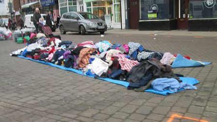 Car boot heaven or hell? Scene from Wednesday's car boot sale on Wisbech market place. PHOTO: Peter