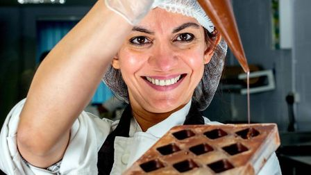 Mona Shah of Ely-based Harry Specters, a social enterprise which makes and sells award winning choco