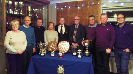 Prize-winners pictured at the recent March Golf Club AGM.