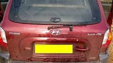 Suspected hare coursing Witchford. ThisHyundai was seized and the owner reported for the offence of
