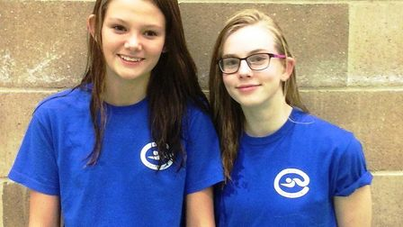 Local swimmers Maeve Pooley and Ciara Taylor.