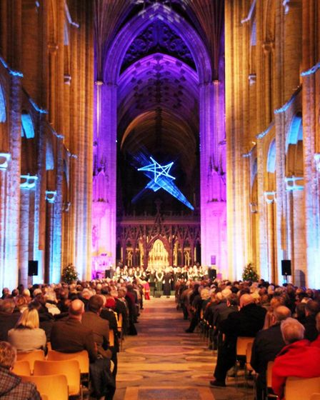 The Military Wives Choirs performing at Ely Cathedral on Wednesday November 29. PHOTO: Mike Rouse.