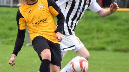 Jack Brand scored March's second in their 3-2 defeat to Needham Market Reserves last weekend. Photo: