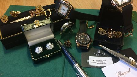 These are some of the counterfeit goods seized as part of the case against Terrance Donovan.