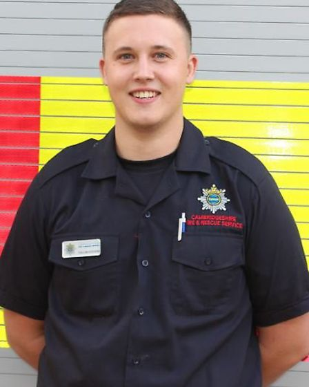 Callum Hodgkin, an on-call firefighter at Manea and Whittlesey, will join Cambridge fire station ful