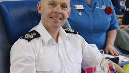 More than 100 people turned out to donate blood in one day at Wisbech fire station. Chief fire offic