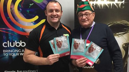 Feeling festive: Cllr Mike Cornwell (right), FDC Cabinet member responsible for Golden Age, with his