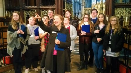 Bishop Laney Sixth Form's student council visited Ely Cathedral ahead of its Christmas Food Fair for