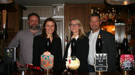 Mike Connelly, Lucy Frazer MP, Julie Jolly and Darren King from Greene King Pub Partners at the Roya