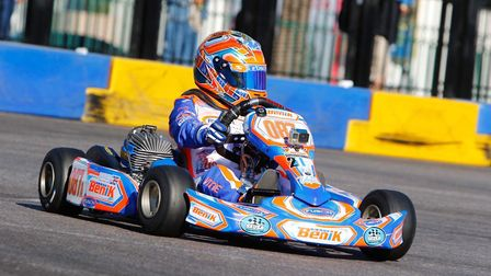 Vinnie Phillips, who goes to Benwick Primary School, won the annual SKUSA Super Nationals in Las Veg
