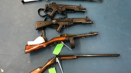 Guns amnesty: Iimages of guns collected across Bedfordshire, Cambridgeshire and Hertfordshire. Rifle