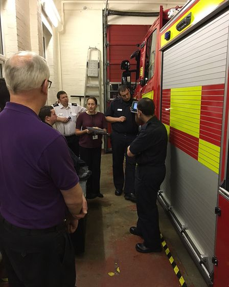 """""""On-call firefighters at #Papworth Fire Station have started their drill night early tonight. They a"""