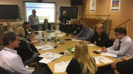 """""""Colleagues from Cambs Cops utilising one of our SHQ conference rooms for a risk management training"""