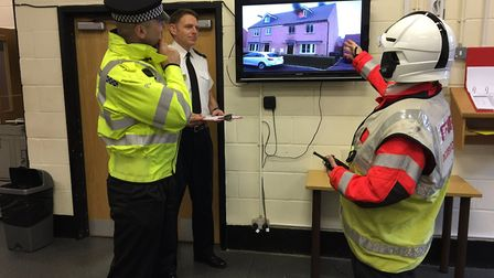 """""""At the training centre in #Huntingdon a level 1 incident command reassessment is underway. It's ful"""