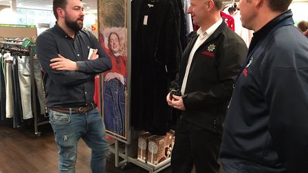 """""""Red watch carried out a familiarisation visit at the new TK Maxx store in Huntingdon and had a chat"""