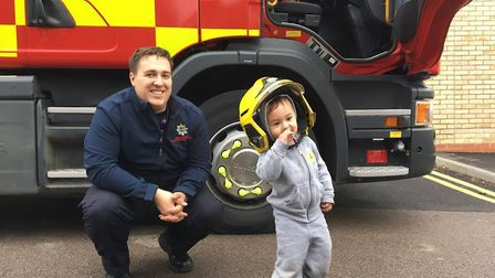 """""""Meanwhile the crew left in the car park had a little visitor - think we made his day! #OurDay"""""""