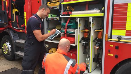 """""""Equipment checks with the Asset Management Scanner at Stanground #OurDay #TeamCambs"""""""