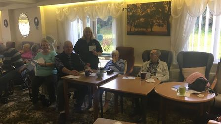 """""""Community Safety Officer, Jill has been delivering a Dementia Friends session at a sheltered housin"""