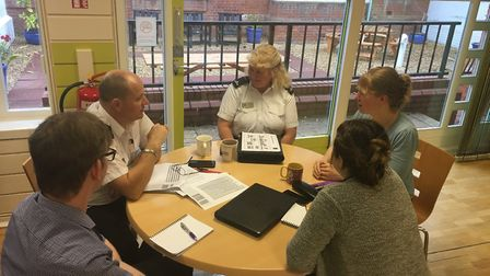 """""""Staff from Fire Protection discussing performance statistics moving forward with the STEP Developme"""