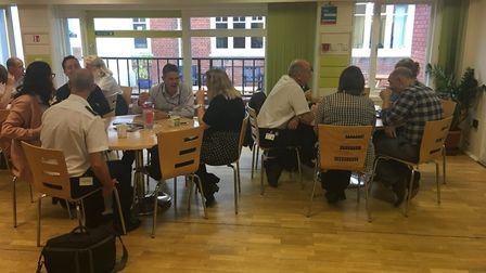 """""""SHQ staff come together for a cup of tea/coffee #OurDay"""""""