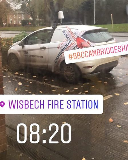 Over at Wisbech CFRS, they started the day with an interview with BBC Radio Cambridgeshire about bad