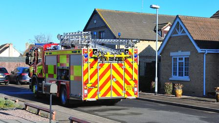 Nine fire crews – including one from Boston – were called to a garage and house blaze in Wimblington