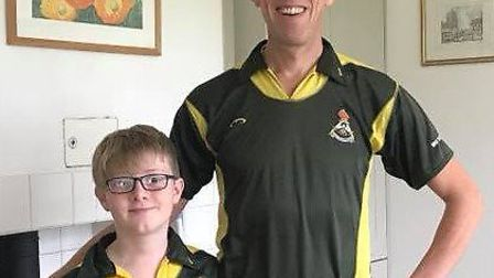 Ely City Hockey Club father and son duo Ben and Tim Reynolds, who hit a hat-trick between them last
