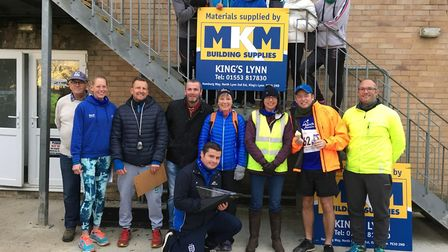 Some of the March AC runners and volunteers who took part in the Hereward Relay.