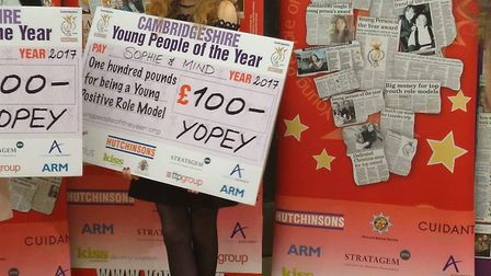 Cromwell Community student Sophie Freer wins a YOPEY award