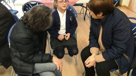 Former Martin School students from the 1950's met with current pupils to discuss how school life has