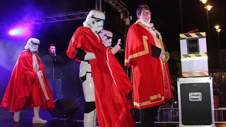 It was cold, busy but exhilarating as Ely celebrated the switching on of the Christmas lights. Hundr