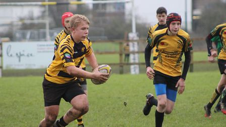 Action from Ely Tigers under 15's win over Bury St Edmunds.