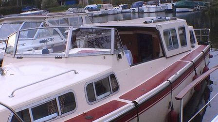 Elysian Lady was moored at Cathedral Marina in Ely