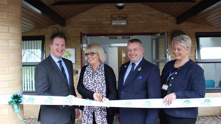 Official opening at the Elms earlier this year: From left to right, DCI Jon McAdam, Victims' Commiss