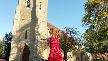 A cascade of poppies featured outside Chatteris Parish Church last month to raise money for the Popp