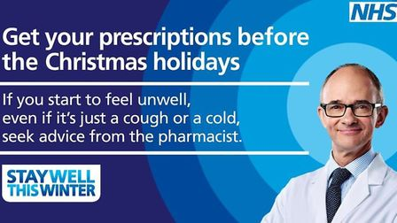 GPs are urging patients to make sure they have enough medicine for Christmas and New Year. Pictured
