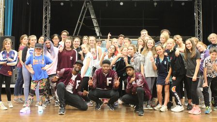 Street dance group Flawless showcased their skills during a masterclass at King's Ely.
