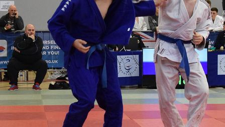 Noah Aldous (left) in action at the British Championships.