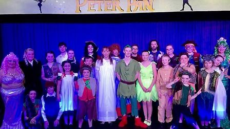 The cast of Littleport Players' Peter Pan. Photo: Cathy Gibb-de Swarte