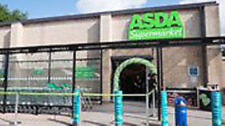 Four men forced their way into the Soham branch of Asda in Clay Street on Monday, stealing cigarette