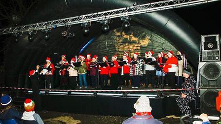 A spectacular display - and a great village occasion - as Wimblington came together for the switchin