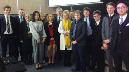King's Ely government and politics students met former Prime Minister Gordon Brown last month.
